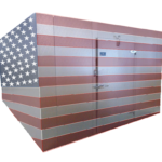 Commercial Cooling Walk-in Box American Flag City of Industry California