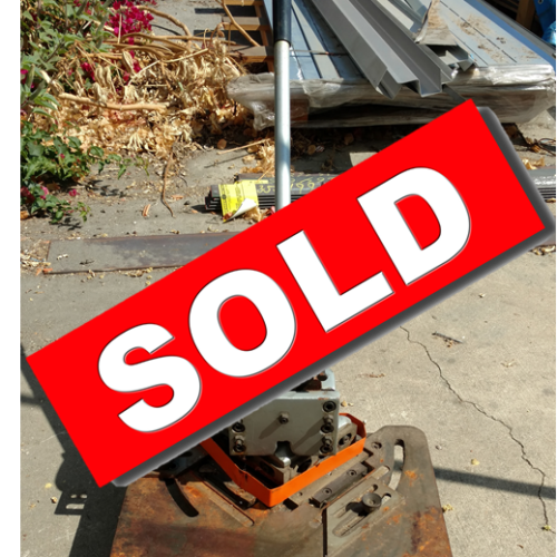 4 Ton Hand Metal Notcher Sold Commercial Cooling Par Engineering Inc. City of Industry