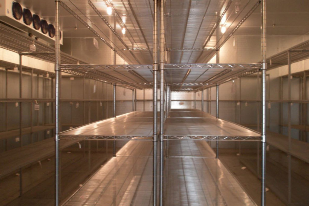 Long-Beach-Police-Department-Walk-in-Cooler-with-Shelves
